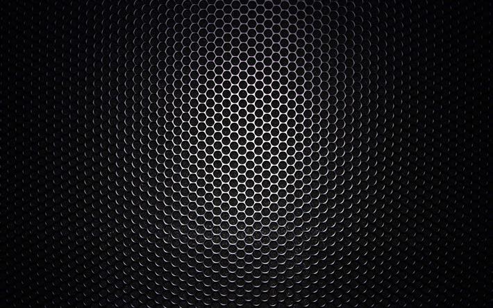 Download Wallpapers Black Metal Grid Metal Textures Metal Backgrounds Close Up Grid Texture Black Metal Background For Desktop Free Pictures For Desktop Free