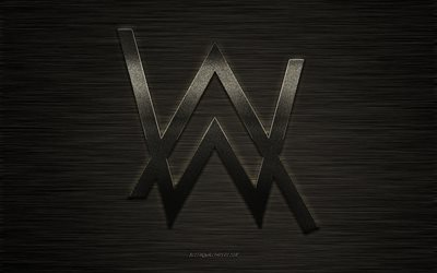 Alan Walker, emblem, logo, stylish metal logo, creative art, Norwegian DJ, art, Alan Walker logo