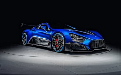 2019, Zenvo TSR-S, hypercar, exterior, blue sports coupe, tuning Zenvo, luxury cars, Zenvo