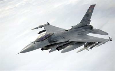 General Dynamics F-16, Fighting Falcon, American fighter, US Air Force, F-16, USA