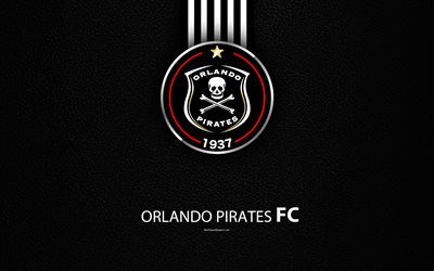 Download wallpapers Orlando Pirates FC, 4k, leather texture, logo, South African football club ...
