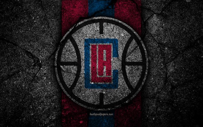 Los Angeles Clippers NBA 4k Logo Black Stone Basketball Western