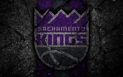 Download wallpapers Sacramento Kings NBA 4k logo black