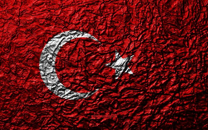 Indir Duvar Kagidi Turkiye 4k Bayrak Tas Doku Dalgalar