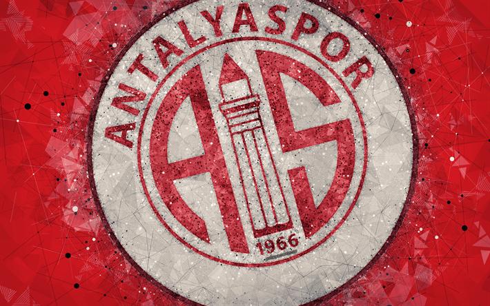 Download Wallpapers Antalyaspor FC 4k Logo Creative Art