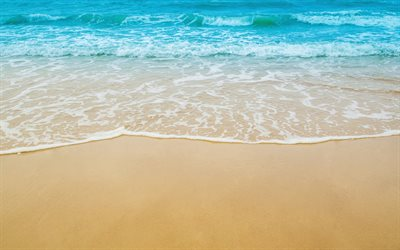 beach, sand, sea breeze, sea, waves, summer travel, relaxation