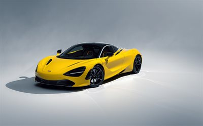 2019, McLaren 720S, yellow sports coupe, new yellow 720S, yellow supercar, British sports cars, McLaren