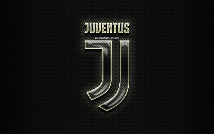 Download Wallpapers Juventus Fc Glass Logo Black Rhombic Background Serie A Soccer Italian Football Club Football Juventus Logo Creative Juventus Juve Italy For Desktop Free Pictures For Desktop Free