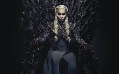 Game of Thrones, 2019, poster, promotional materials, Daenerys Targaryen, Emilia Clarke, characters