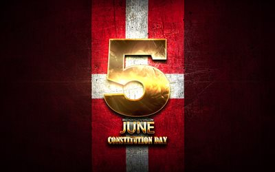 Constitution Day, June 5, golden signs, Danish national holidays, Denmark Public Holidays, Denmark, Europe, Constitution Day of Denmark