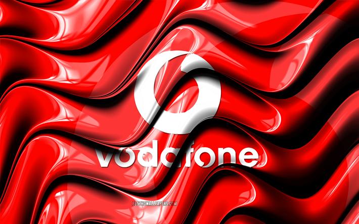 Scarica Sfondi Vodafone Bandiera 4k Rosso Bandiera Bandiera
