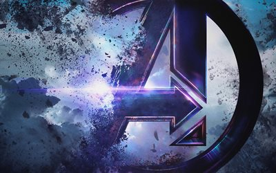 4k, Avengers EndGame logo, 2019 movie, Avengers 4, poster, fan art, creative, Avengers EndGame