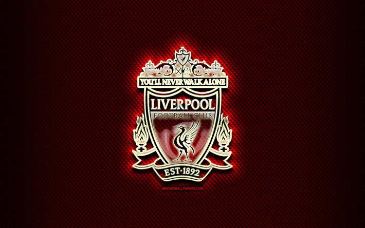 Herunterladen Hintergrundbild Liverpool Fc Glas Logo