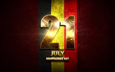 Independence Day, July 21, golden signs, Belgian national holidays, Belgium Public Holidays, Belgium, Europe, Independence Day of Belgium