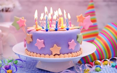 Download Decoration Of Cake : Download wallpapers birthday cake, candles, sweets, cakes ...