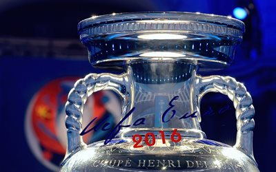 white background, france 2016, uefa, trophy, cup, euro 2016, france