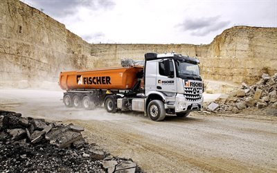 2015, trucks, quarry, dump truck, mercedes-benz arocs, machinery