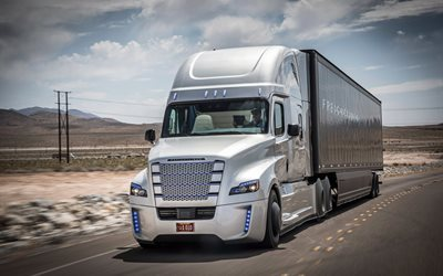 flatliner, freightliner inspiration, road, trucker, trucks