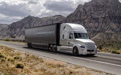 2016, road, trucks, freightliner inspiration, flatliner