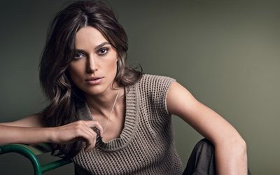 beautiful girl, brunette, look, keira knightley, actress, celebrity
