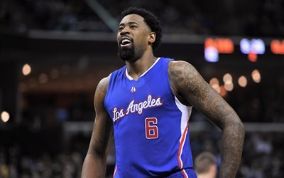 deandre jordan, nba, joueur de basket-ball, los angeles clippers
