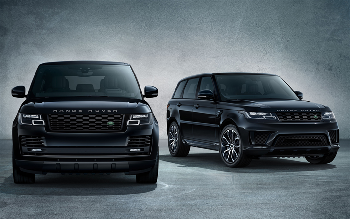 Range Rover Sport Black Wallpaper: Download Wallpapers Land Rover Range Rover Sport, 2018