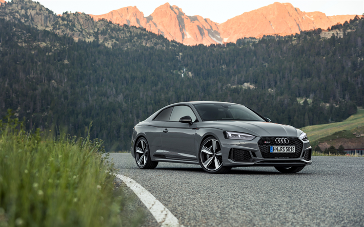 Download Wallpapers 4k Audi Rs5 Coupe Road 2018 Cars New Rs5