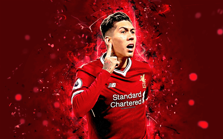 Download Wallpapers Roberto Firmino, 4k, Liverpool