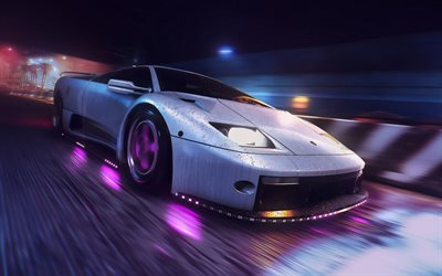 Need for Speed Lämpöä, 4k, Lamborghini Diablo, 2019 pelejä, kilpa-simulaattori, NFSH, Need for Speed, NFS