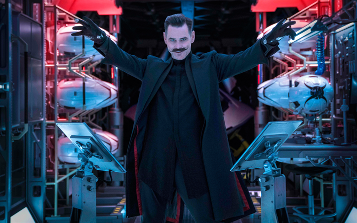 Ivo Robotnik 4k, Sonic The Hedgehog, il 2020 locandina del film, Jim Carrey