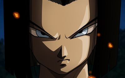 Android 17, 4k, manga, DBS personnages, Dragon Ball, œuvres d'art, Dragon Ball Super, DBS