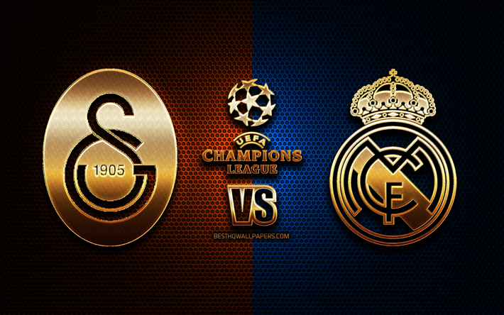download wallpapers galatasaray vs real madrid group a uefa champions league season 2019 2020 golden logo real madrid fc bayer galatasaray fc uefa galatasaray fc vs real madrid fc for desktop free pictures download wallpapers galatasaray vs real