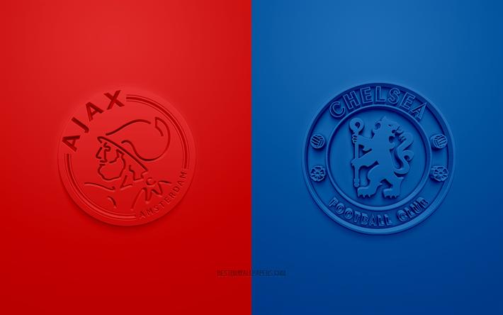 Download Wallpapers Ajax Amsterdam Vs Chelsea Fc Champions