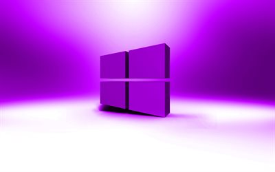 Windows 10 violeta logotipo, creativo, OS, violeta abstractas, Windows 10 en 3D logotipo, marcas, Windows 10 logotipo, imágenes, Windows 10