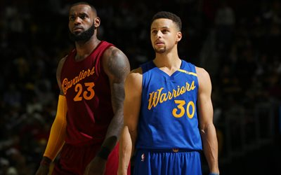 LeBron James, Cleveland Cavaliers, Stephen Curry, Golden State Warriors, NBA, basketball stars