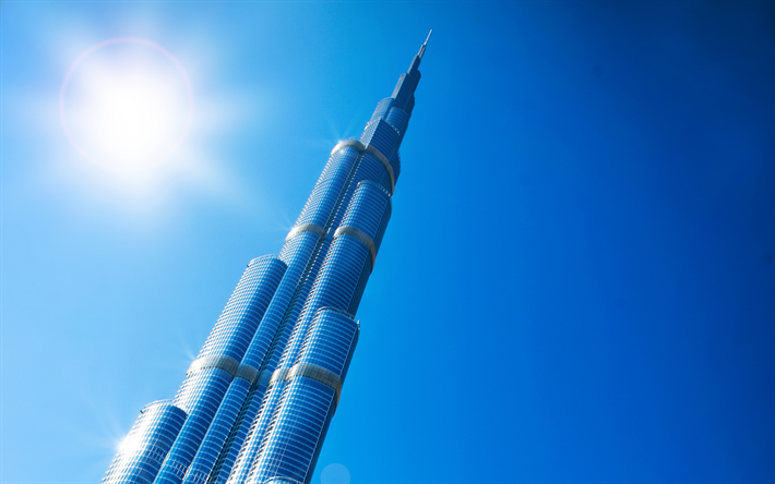Download Wallpapers Burj Khalifa, 4k, Dubai, UAE