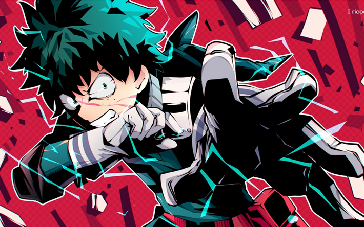 Download Wallpapers Boku No Hero Academia Izuku Midoriya