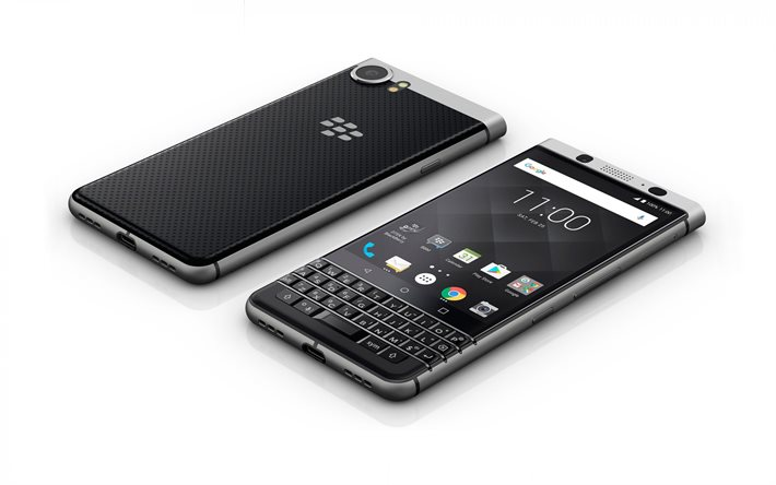 Blackberry Keyone, smartphone, white background, Blackberry