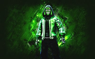 Fortnite Mezmer Skin, Fortnite, main characters, green stone background, Mezmer, Fortnite skins, Mezmer Skin, Mezmer Fortnite, Fortnite characters