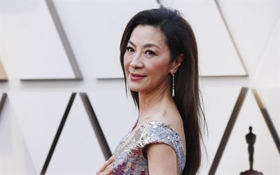 Michelle Yeoh, malaysian actress, portrait, photoshoot, beautiful dress, popular actresses