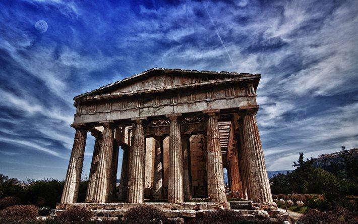 T l charger fonds d 39 cran ancien temple grec le parth non for Architecture ancienne
