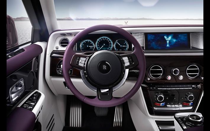 herunterladen hintergrundbild rolls royce phantom 4k innenraum 2018 autos armaturenbrett. Black Bedroom Furniture Sets. Home Design Ideas