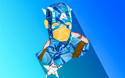 Captain America, abstract art, creative, blue background, superheroes