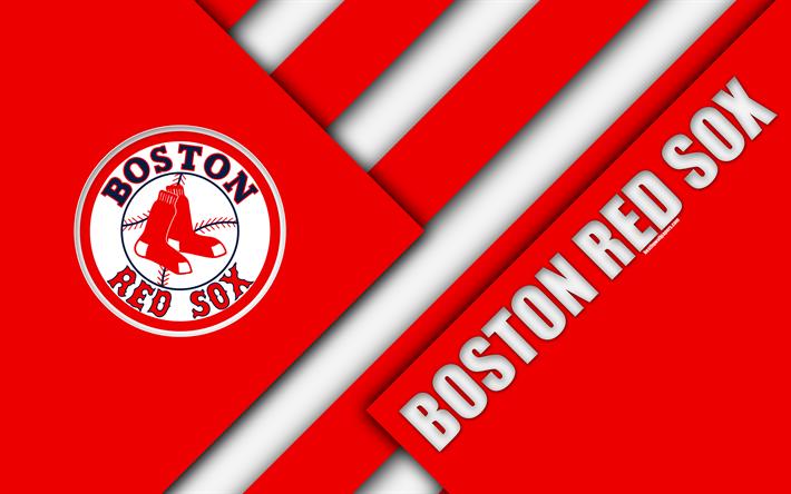Boston Red Sox MLB 4k Abstraction Logo Material Design