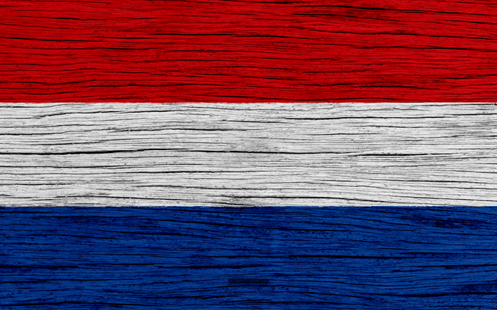 Download Wallpapers Flag Of Netherlands 4k Europe Wooden Texture