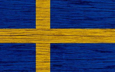 Download wallpapers Flag of Sweden 4k Europe wooden texture Swedish flag national symbols