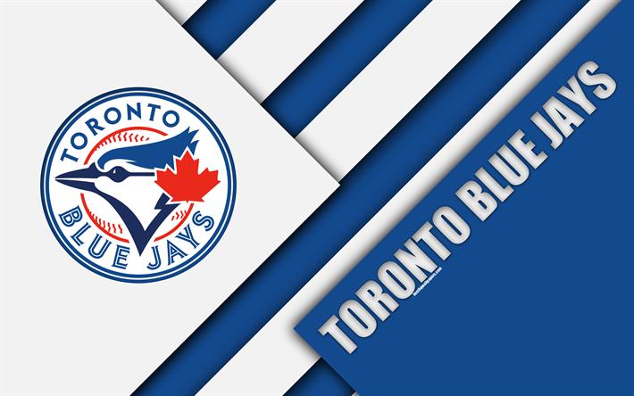 Toronto Blue Jays MLB 4k Abstraction Logo Material Design