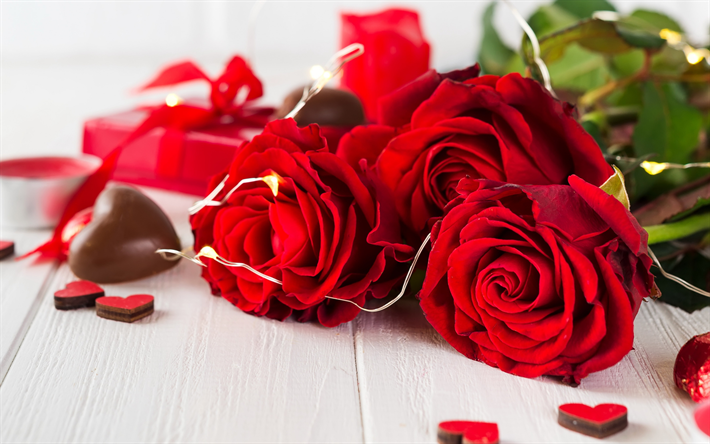 Valentines Day, February 14, red roses, chocolates, romance, roses