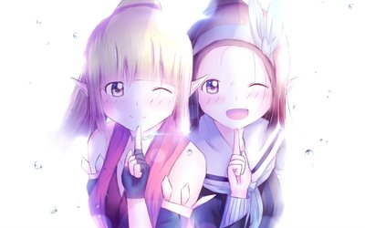 Elves, Dragon Nest characters, manga, anime girls, artwork, Dragon Nest, anime elf