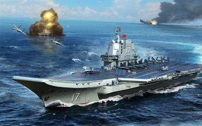 Type 001A aircraft carrier, Chinese aircraft carrier, Peoples Liberation Army Navy, China, chinese warship, drawing